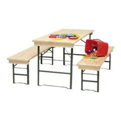 Set kinder tafel met 2 banken