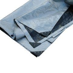 Afdekzeil 6 x 8 m - zilver/zwart