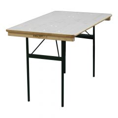 Tafel 75 cm blank gelakt kort 123cm