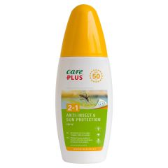 Zonnecreme 50+ anti-insect 2 in 1 Care-plus