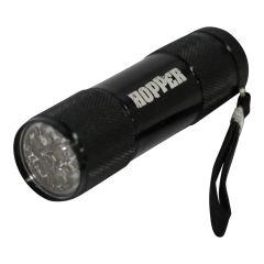 ZAKLAMP 9 LED  MET HOPPER LOGO