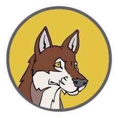 Kenteken broer wolf